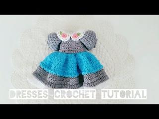 Pretty spring dresses👗 crochet for Blythe / crocheted doll