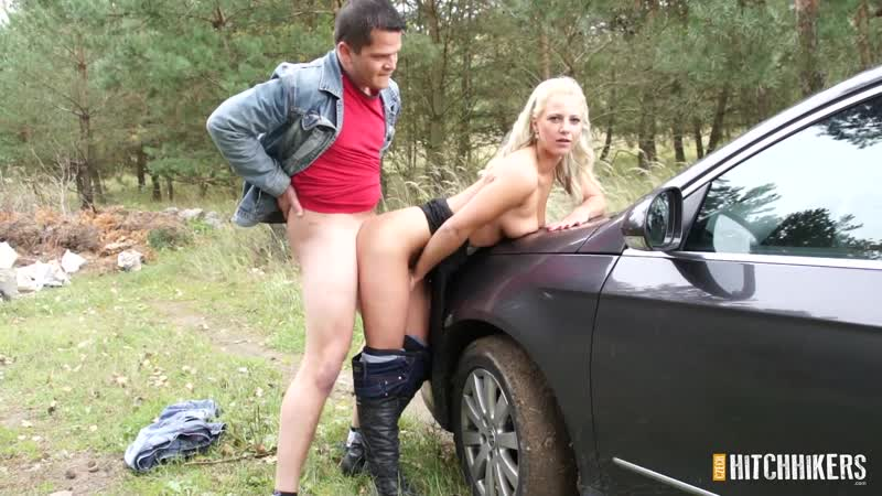 [CzechHitchhikers] Blonde slut with a pierced pussy fucks her chubby driver in exchange for a free ride