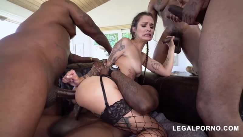 Luna Lovely - Gangbang, Interracial, Lingerie, DP, Anal, Porn, Порно