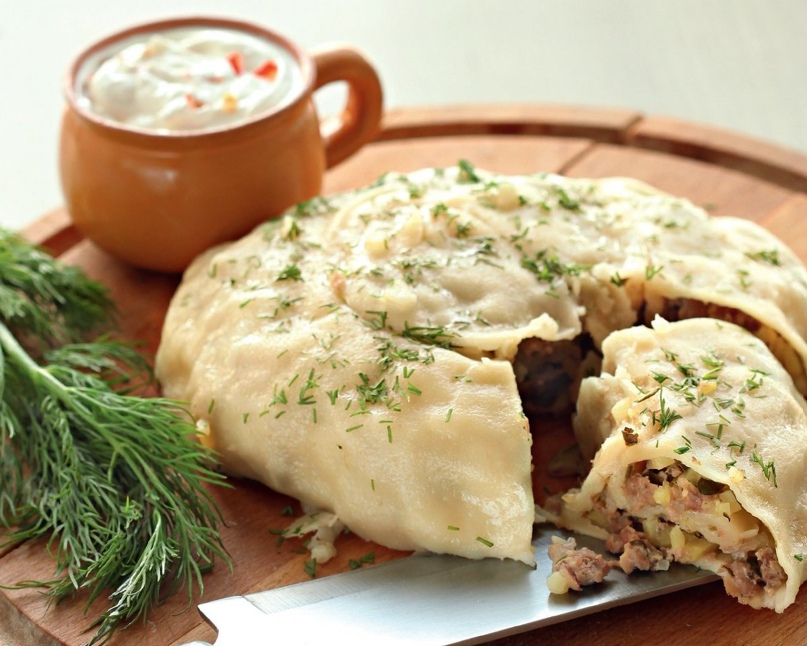 Катлама с мясом и картофелем