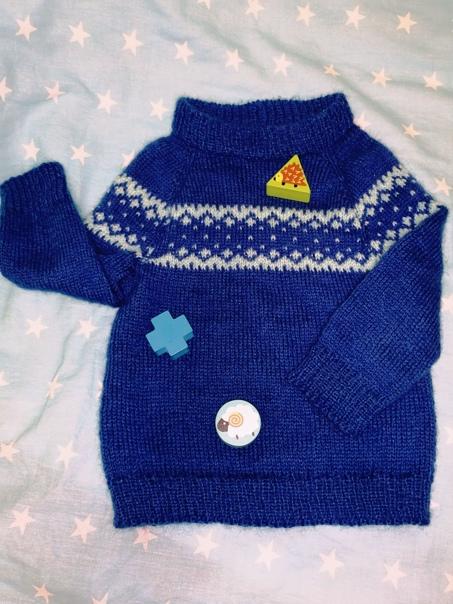 Моя работа, свитер на годик малыша. ................... Работа нашей подписчицы.