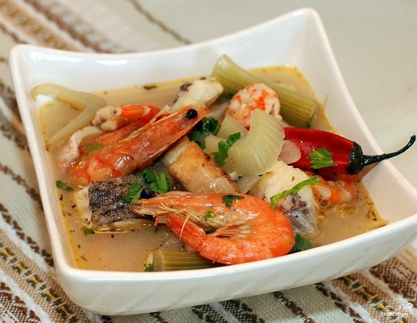 Рыбный суп с фенхелем  Я давно мечтал приготовить буйабес...