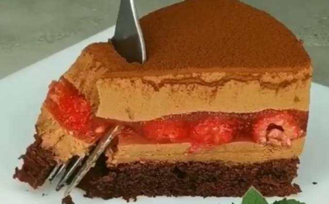 """Муссовый торт """"МАЛИНА-ШОКОЛАД"""""""