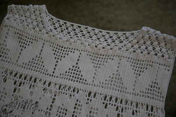 топ / филейное вязание
