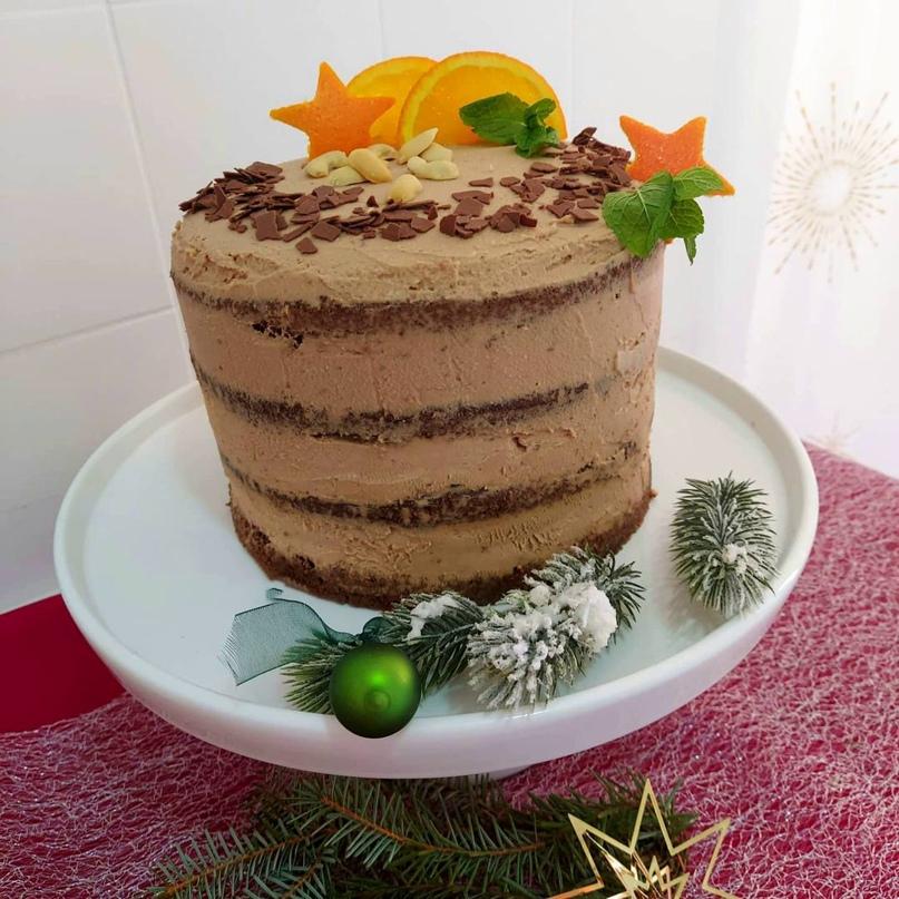 """Торт """"Кофе-мандарин"""""""