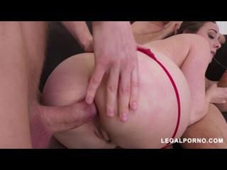 Chanel Preston (Horny slut Chanel drilled by two cocks AB011)[2018, Gape, DAP, Anal, DP, Big tits, Lingerie, Stockings, 720p]