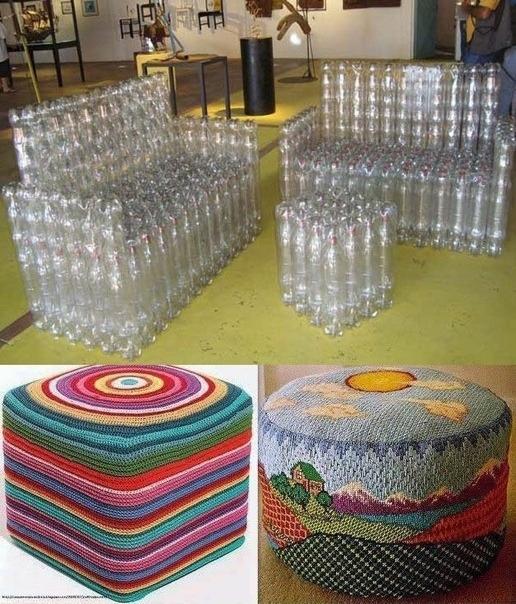 Только посмотрите, что можно сделать из обычных пластиковых...