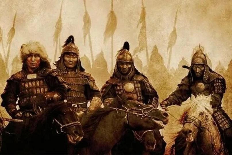 Монгольский отряд в походе