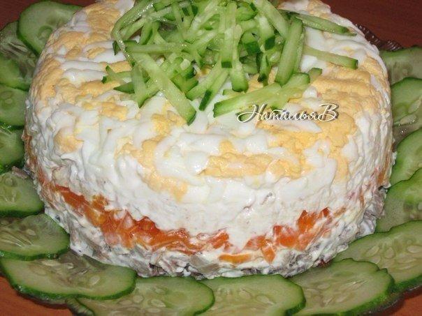 """Салат """"Печёнкин"""" - очень нежный, необыкновенный вкус"""