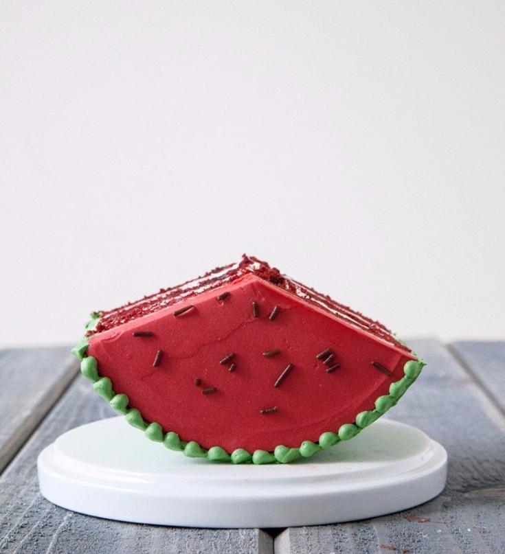 Торт-арбуз (Фотоурок)