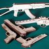 Игрушки - резинкострелы: пистолеты из дерева