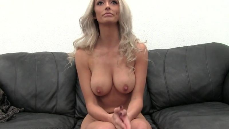 Порно кастинг красивой блондинки, большие сиськи жесткий