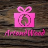 Artandwood Фоторамки Метрики  Слова из дерева