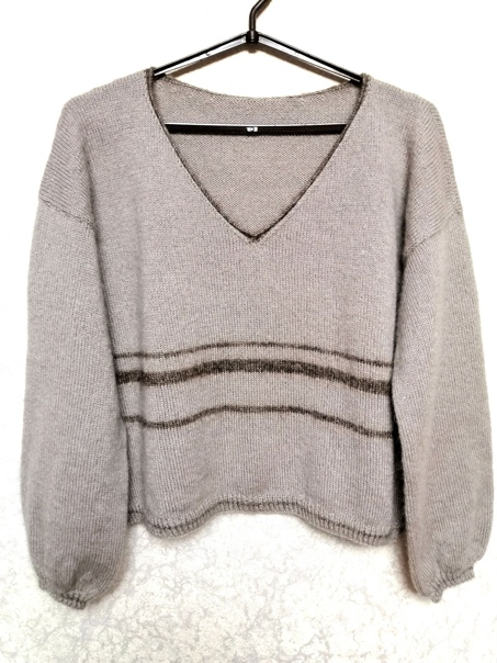 Добрый вечер. Мой долговяз????Пуловер связан из Ализе Рэал...