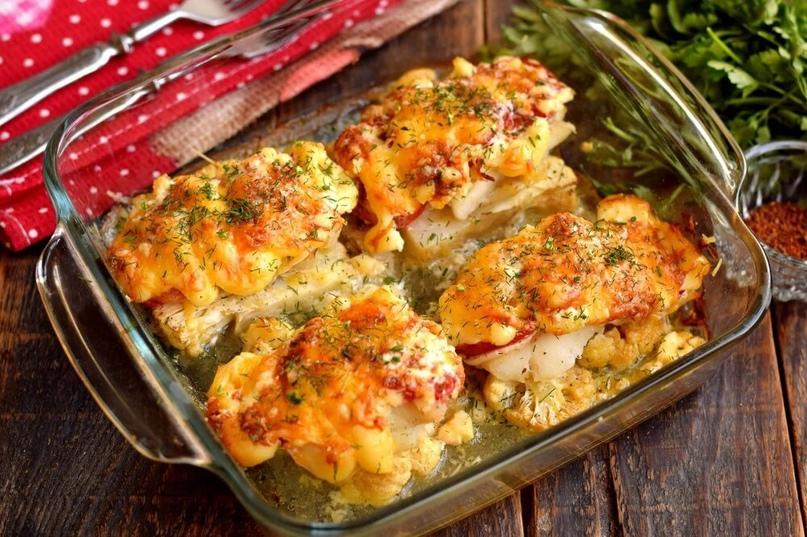 Готовим порционное рыбное блюдо в духовке. За основу берем рецепт мяса по-францу...