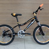 """Велосипед JINSIFENG Ultra-Trail Disc 20"""" (2021) Чёрный/Оранжевый"""