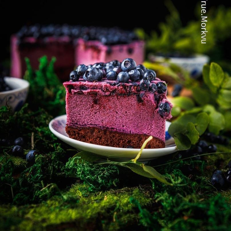 Муссовый шоколадно-черничный торт 😋👍🏻