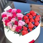 "Ягодно-цветочная коробка ""Эмилия"""