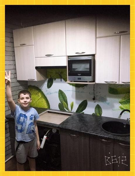 Муж хоть и программист, но ремонт на кухне...