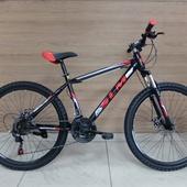 """Велосипед SLM Соломон 26"""" (2021) Чёрный/Красный"""