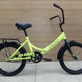 """Велосипед ALTAIR CITY 20"""" (2021) Салатовый/Чёрный"""