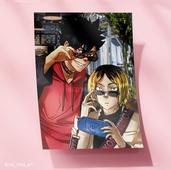 Большая открытка - Куроо и Кенма
