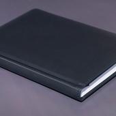 Ежедневник недатированный A5 чёрно-синий