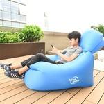Диван надувной HOCO Reo single inflatable sofa fluorescent green