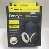 Наушники Defender Fancy 440 серый, кабель 1,2 м
