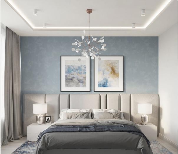 Воздушная и нежная спальня