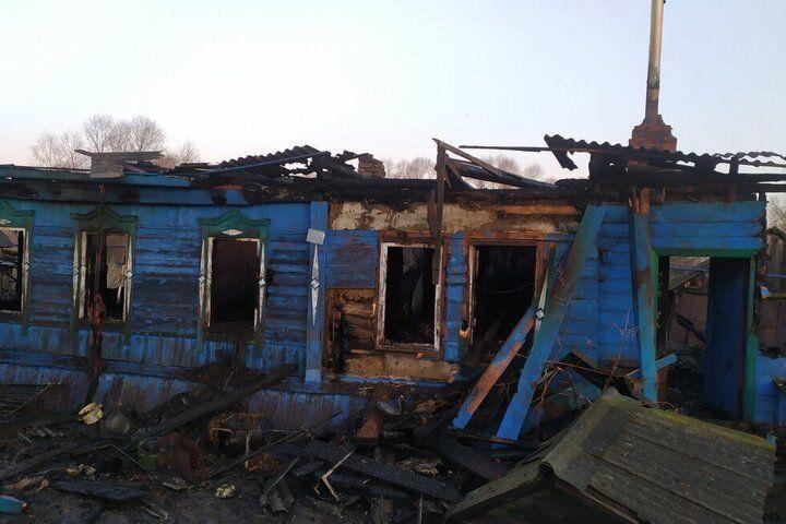 В Екатериновском районе пенсионерка сгорела на пожаре, пока ее сын искал помощи у соседей