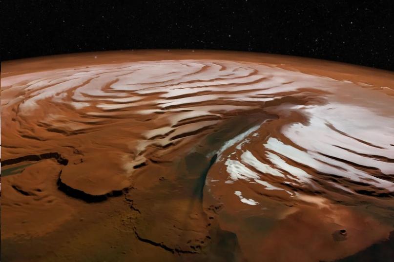 Что действительно нашли ученые на южном полюсе Марса