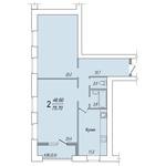 2-комнатная квартира в жилом доме по ул. Карла Маркса, 30 в г. Вологде