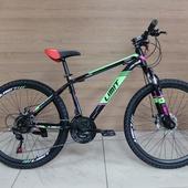 """Велосипед LIMIT Disc (2021) 26"""" Черный/Розовый/Зелёный"""