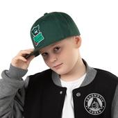 Бейсболка зелёная Зубастик