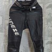 (О500)Мотоштаны кожаные Dainese (Италия), р-р ХХS.