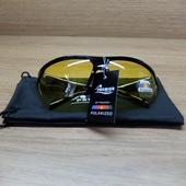 Очки спортивные поляризационные PREMIER PR-OP-9419, цвет жёлтый