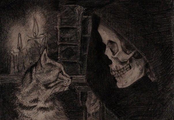 Кот выгнул дугой спину, бросил затравленный взгляд вглубь квартиры, повернулся к...