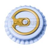 Кронен пробки с кольцом TSOLEBOURG 26 мм, 100 шт, БЕЛЫЙ