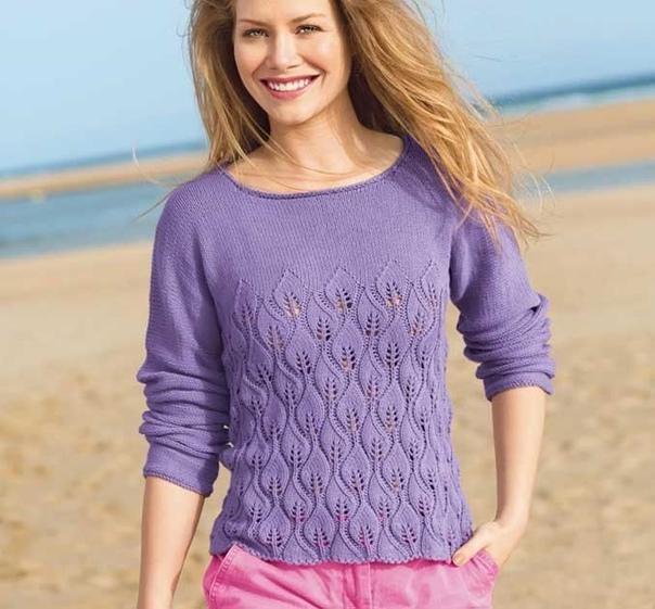 Вяжем женский пуловер. Схема