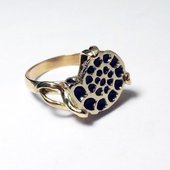 Кольцо золотое Ракушка