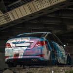 Hyundai Solaris 1 gen. седан. Двойной выхлоп в комплекте диффузор и элероны
