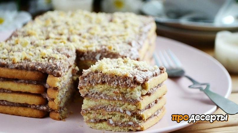 Торт без выпечки из печенья😍