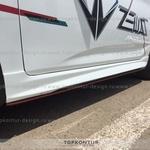Hyundai Solaris накладки на пороги ZEUS