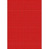 Фон Красно-белый горошек, бумага для меренги переводная