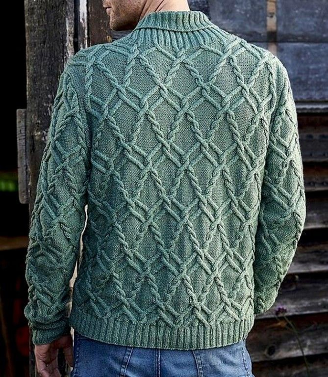 Вяжем мужской пуловер