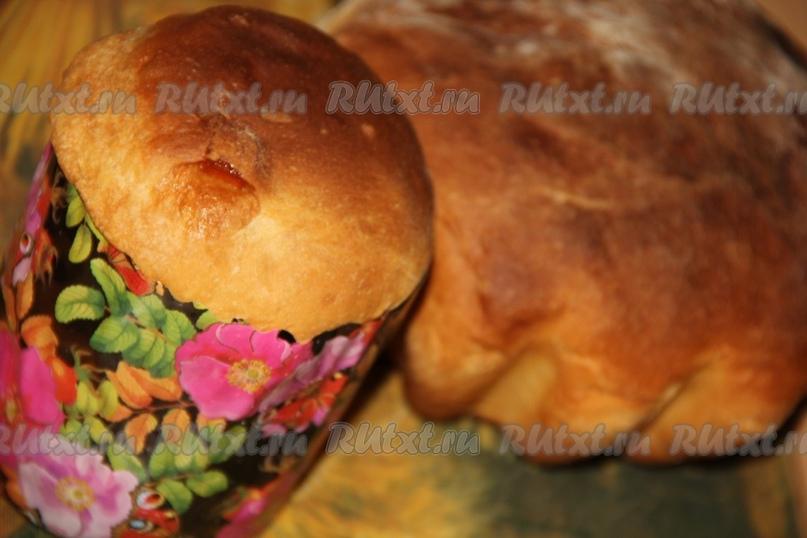 Пасхальный кулич на кефире от nichka
