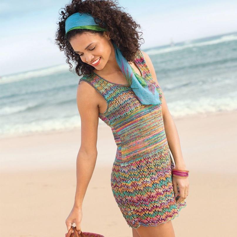 Мини-платье с волнистым узором
