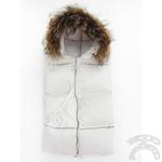 Конверт-одеяло трансформер, пуховый, с опушкой из нат. меха, 95 х 95 см, Teddy Club,159786