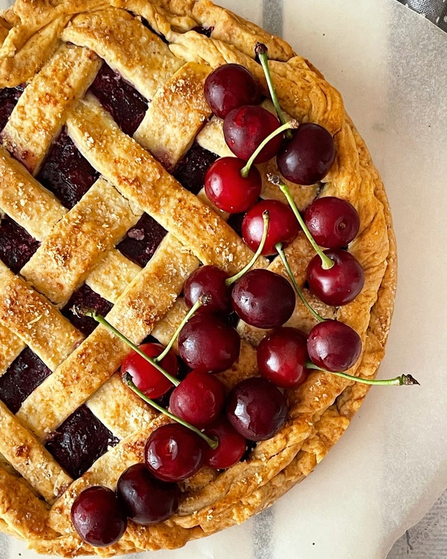 Вишневый пирог. Cherry pie 🍒
